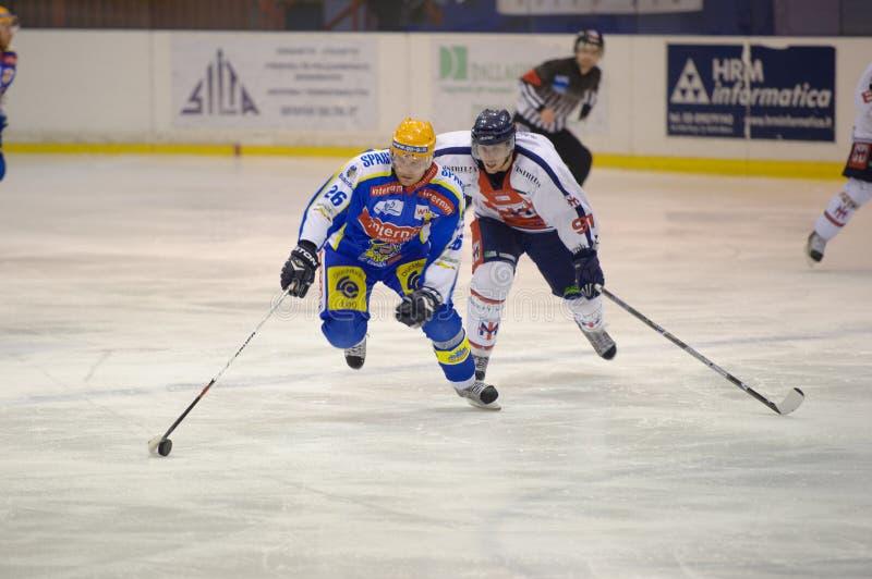 appiano błękitny c świetlicowa eppan h hokejowa Milan czerwień vs zdjęcia royalty free