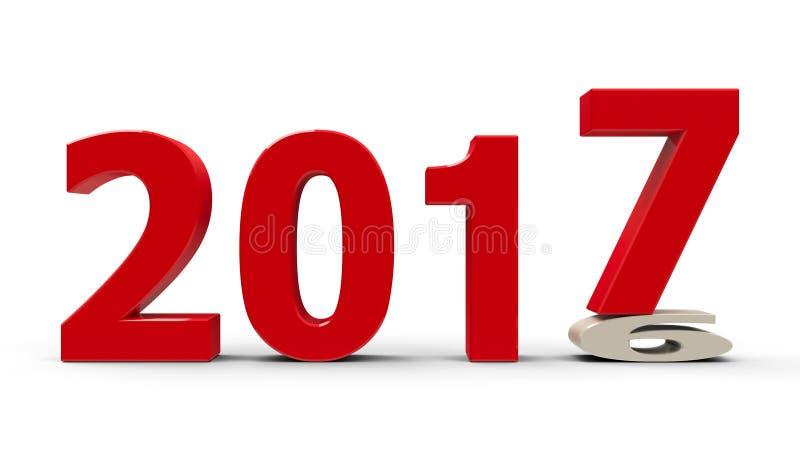 2016-2017 appiattito illustrazione vettoriale