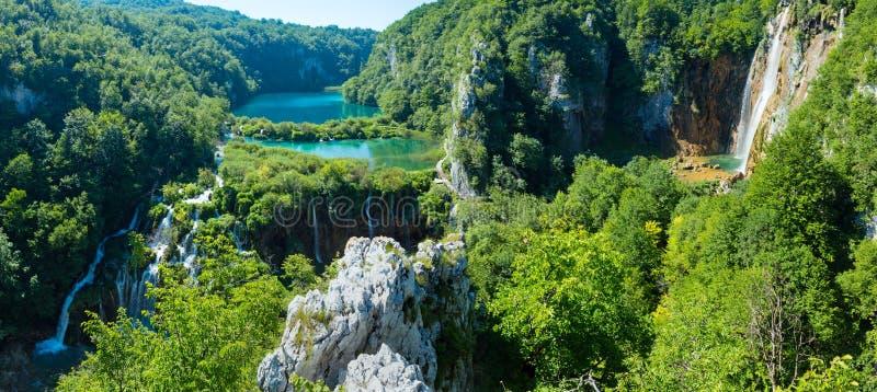 Plitvice panorama för Lakesnationalpark (Kroatien). royaltyfria foton