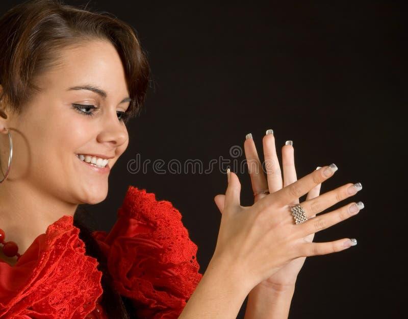 applådera flamenco arkivfoton