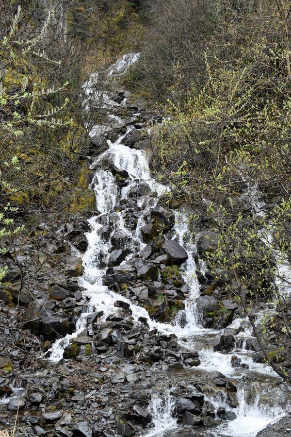 Applådera vatten - ner en kulle royaltyfria foton