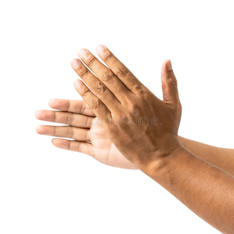 Applaud hand. For congratulation isolated on white background stock image