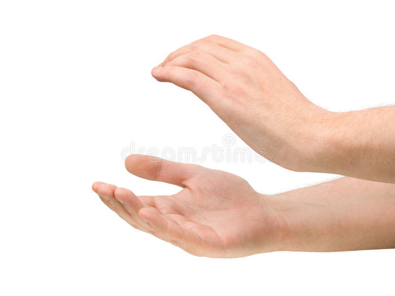 Applauding hands stock photo
