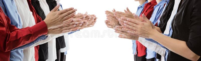 Applaudissement de mains photographie stock