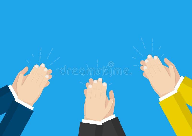 Applaudissement de mains humain applaudissez les mains Illustration de vecteur illustration stock