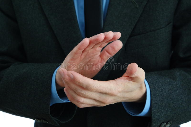 Applaudissements de mains de Businessmans photo stock