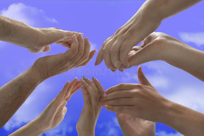 Applaus-handen met het knippen van weg stock afbeelding