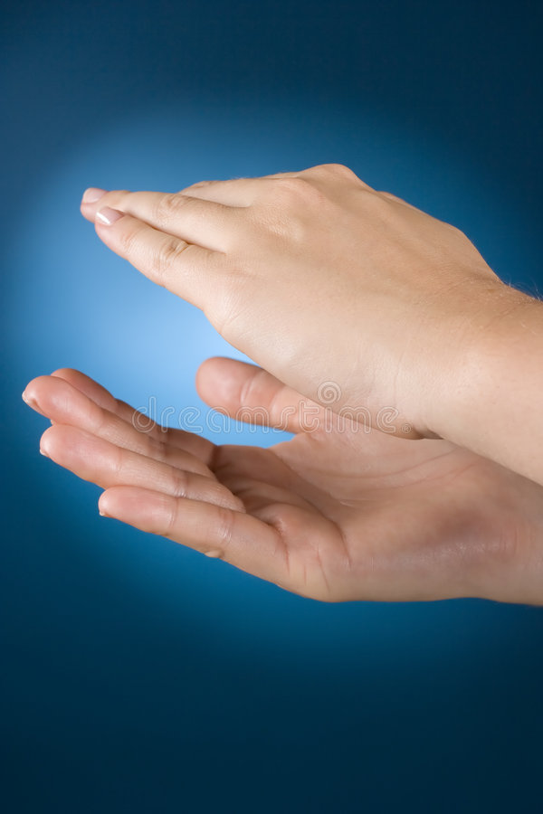 Applause. Body language - woman's hands - applause stock photography