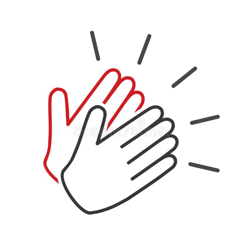 Applause icon, clapping hands, show concept – vector stock illustration