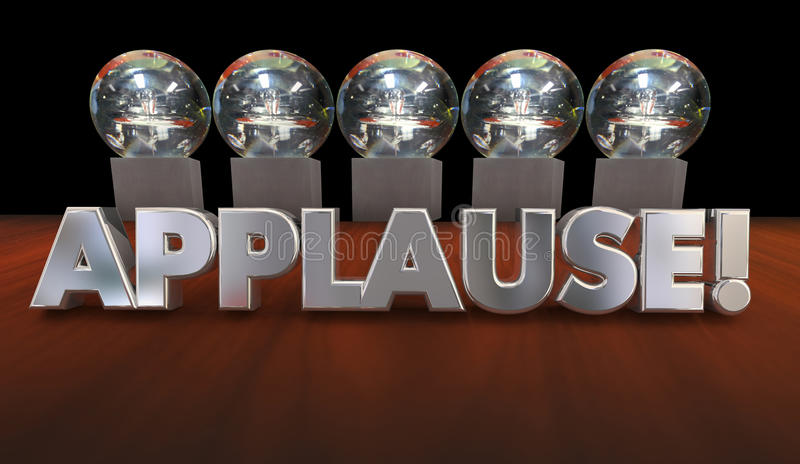 Applause Kudos Recognition Great Job Awards. 3d Illustration stock illustration
