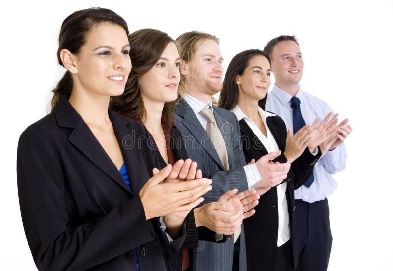 Applauso della squadra di affari immagini stock