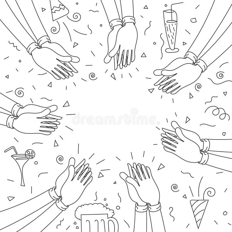 Applauso di mani umano Partito felice royalty illustrazione gratis