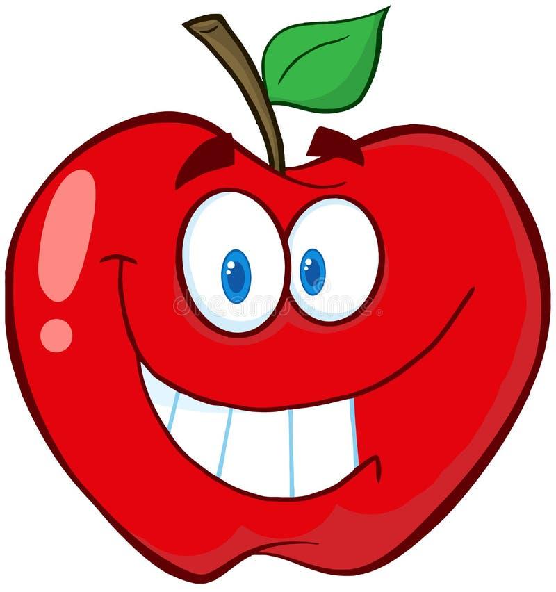 Apple动画片吉祥人字符 皇族释放例证