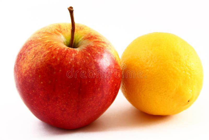 Apple和柠檬 库存照片