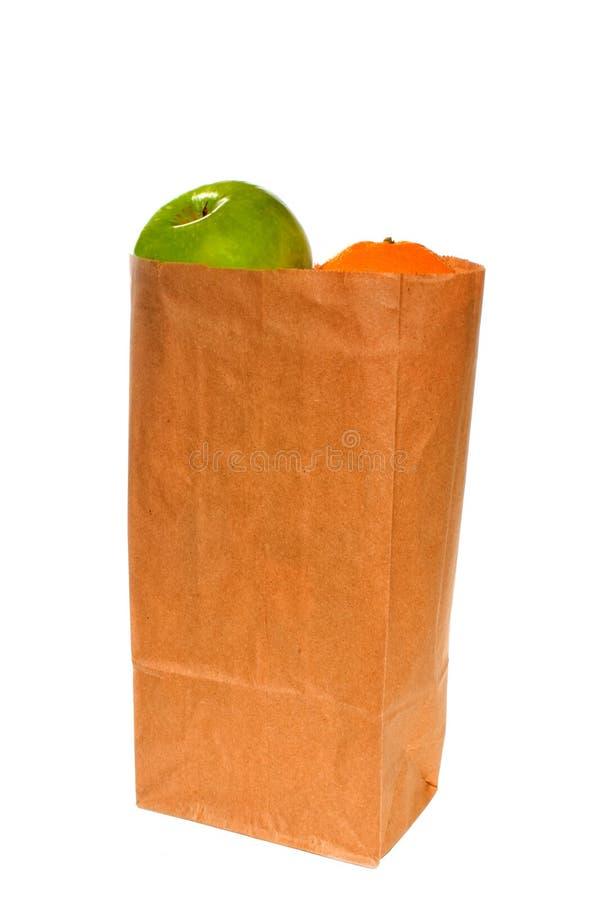 Apple和桔子 库存照片