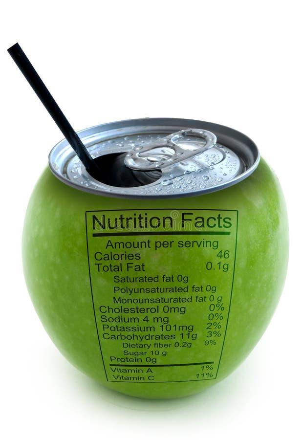 Apple营养情况 库存图片