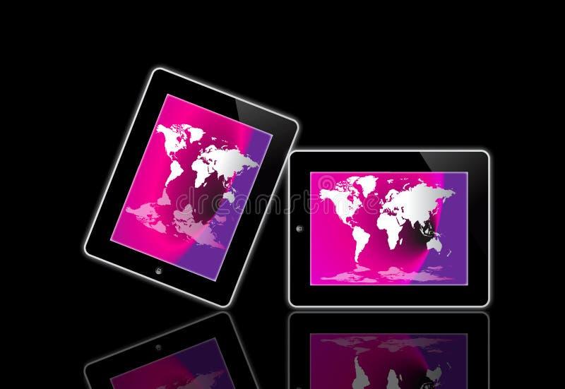 Apple计算机ipad屏幕 皇族释放例证