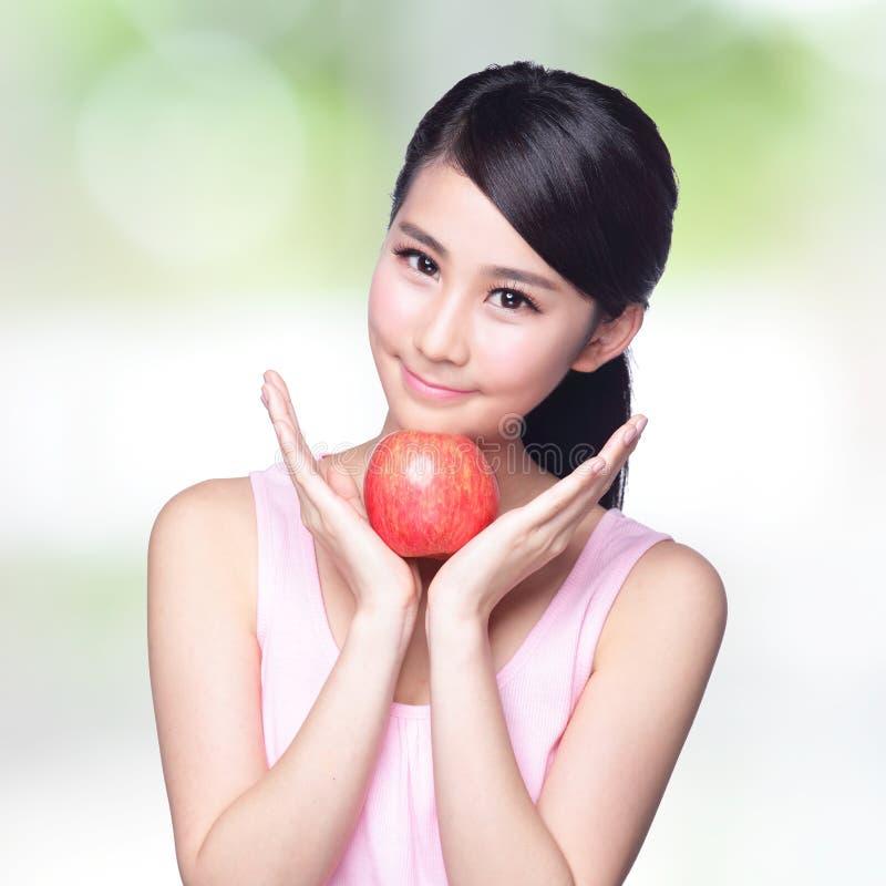 Apple é bom para a saúde imagem de stock