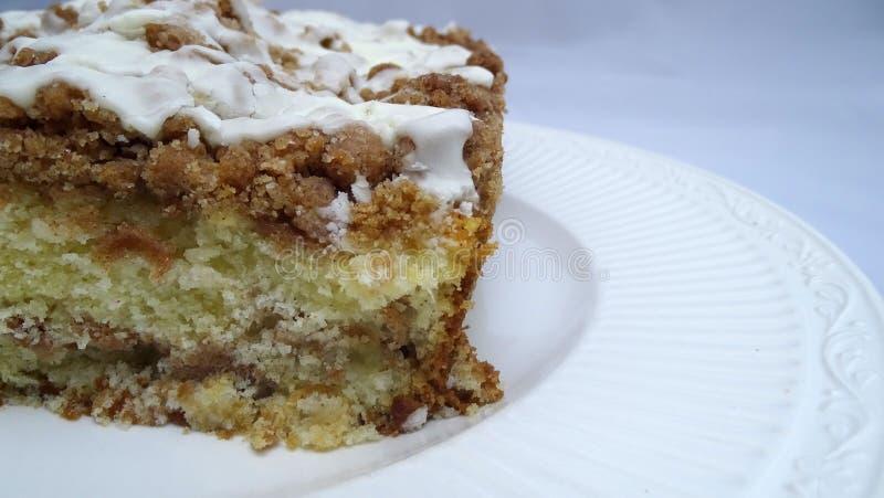 Apple épicent le gâteau de miette photo libre de droits