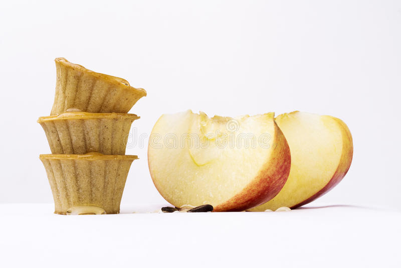Apple και καλάθια μελιού στοκ φωτογραφίες