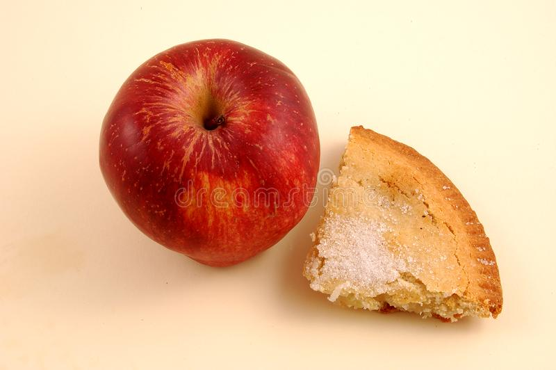 Apple και πίτα της Apple, στοκ φωτογραφίες