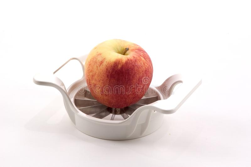 Apple και Slicer της Apple στοκ εικόνες με δικαίωμα ελεύθερης χρήσης