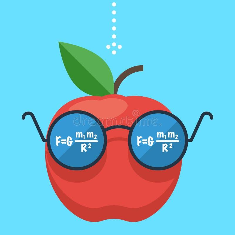 Apple με τα γυαλιά, έννοια διανυσματική απεικόνιση
