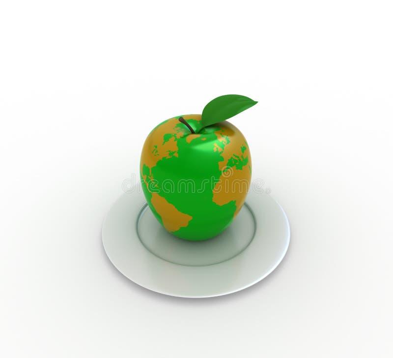 Apple illustration stock