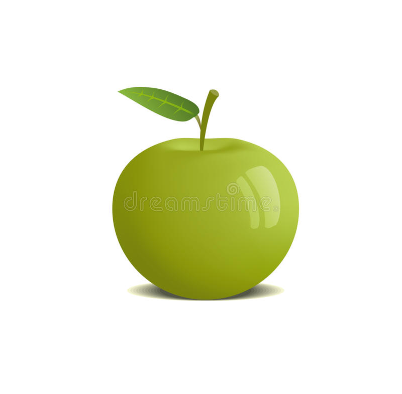Download Apple stock vector. Image of glossy, eating, bright, color - 10897058