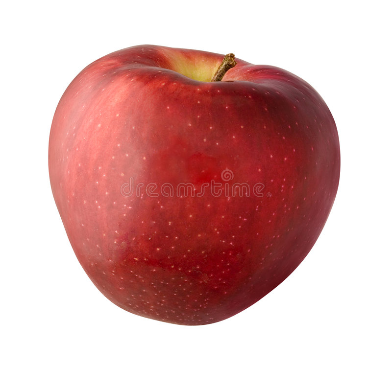 Apple. Isolated on a white background. Isolation is on a transparent layer in the PNG format royalty free stock photography