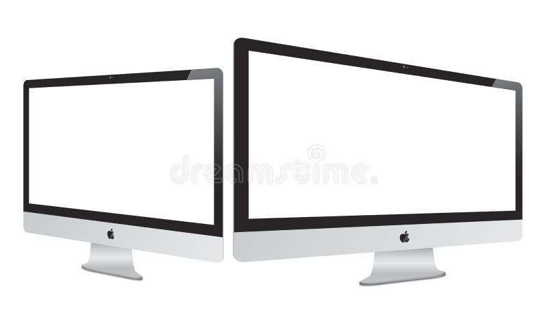 Apple 2012 novo Imac ilustração stock