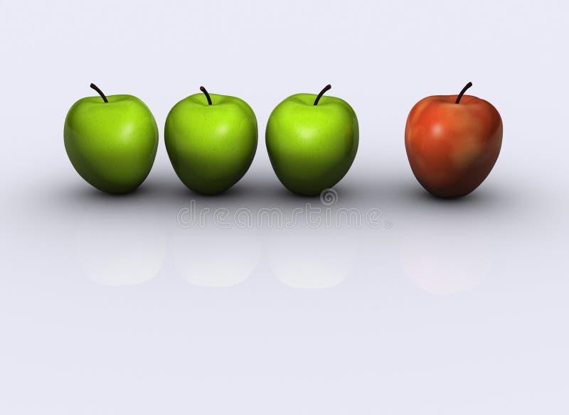 Apple 4 vector illustration