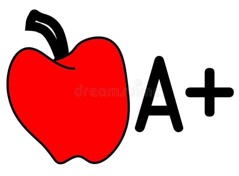 A+ Apple libre illustration