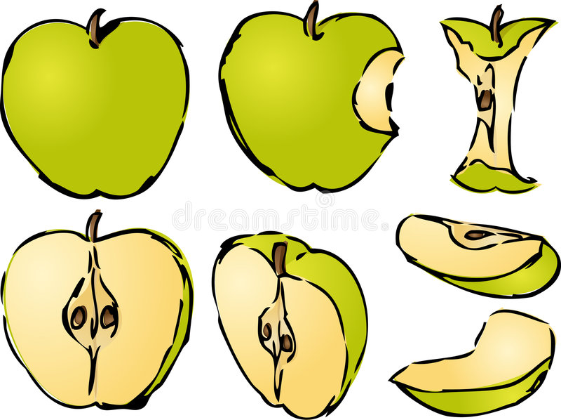 Apple-Abbildung vektor abbildung