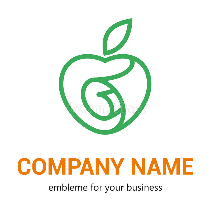 Apple abstract emblem royalty free stock image