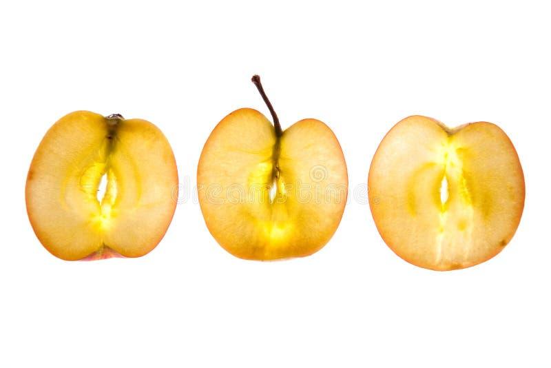 Apple affettato fotografie stock