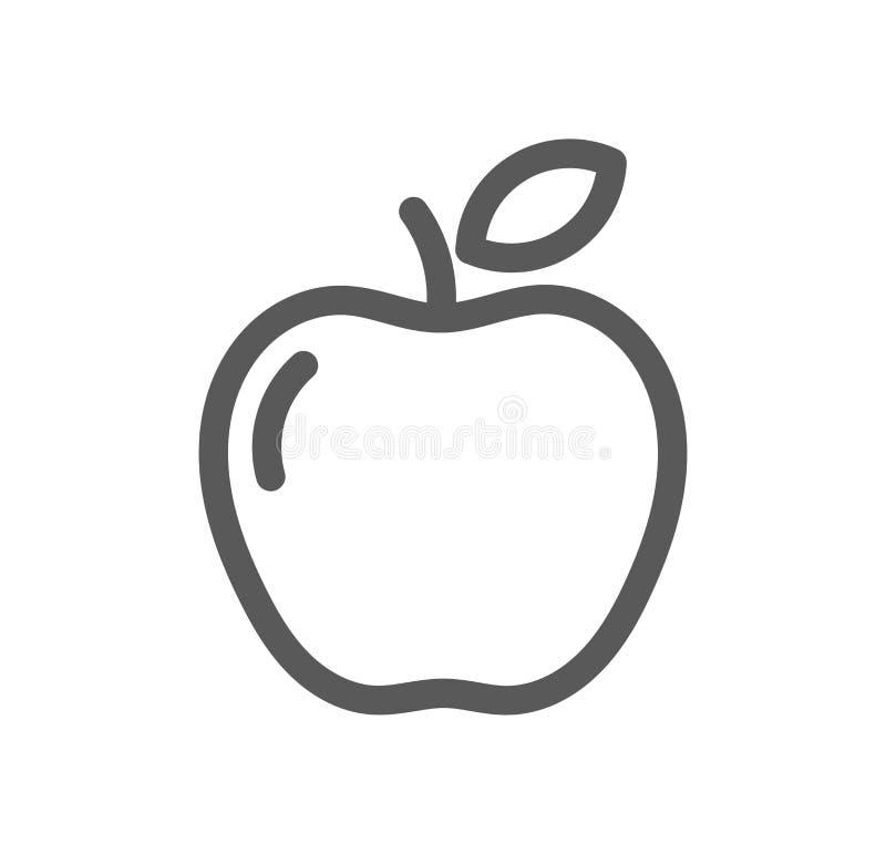 Apple alinha o ícone ilustração do vetor