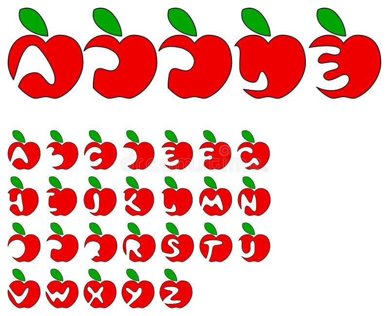 Apple alphabet stock illustration