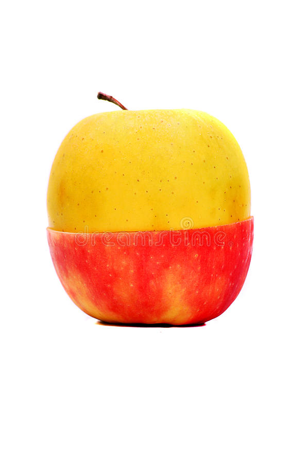 Download Apple amarillo rojo foto de archivo. Imagen de contrarios - 20915444
