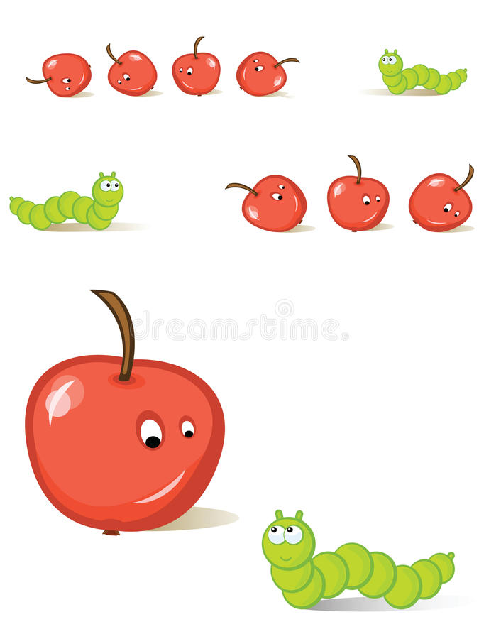 Free Apple And Caterpillar Stock Image - 16718531