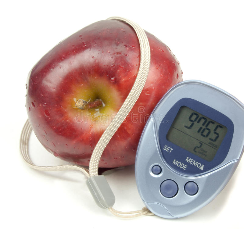 Free Apple And Pedometer Royalty Free Stock Photos - 28780698