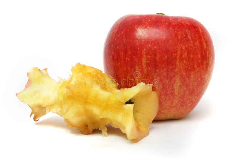 Apple antes y después imagen de archivo libre de regalías