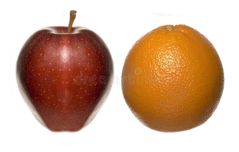 Apple apelsin arkivbild