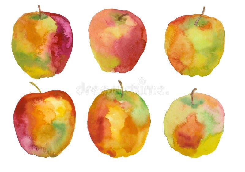 Apple, Aquarellmalerei lizenzfreie abbildung