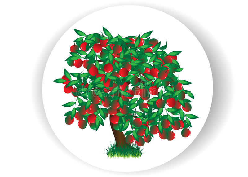 Apple-arbre illustration libre de droits