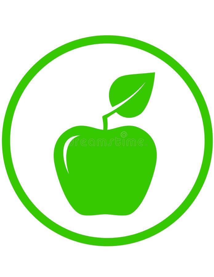 Apple avec la feuille verte illustration stock