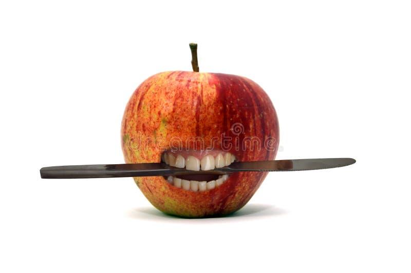 Download Apple Avec Le Couteau Entre Les Dents Image stock - Image du pouvoir, aventure: 56482957