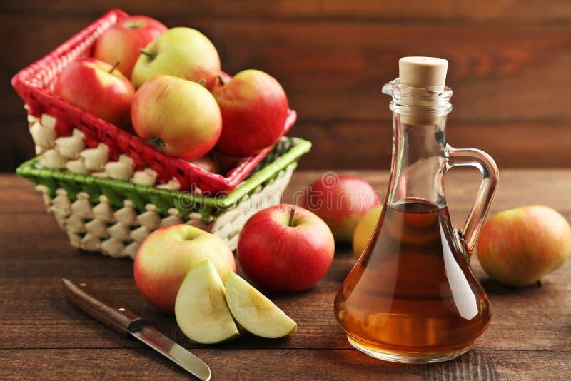 Apple-azijn royalty-vrije stock afbeeldingen