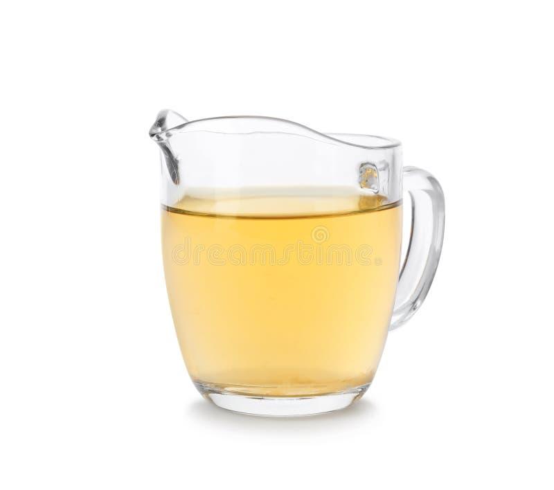 Apple-azijn in glaswaterkruik royalty-vrije stock fotografie