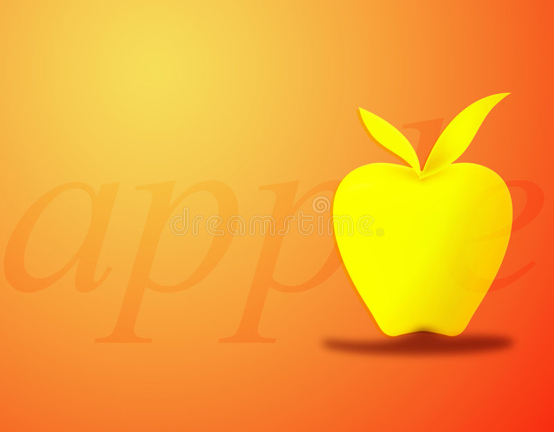 Apple Background royalty free illustration